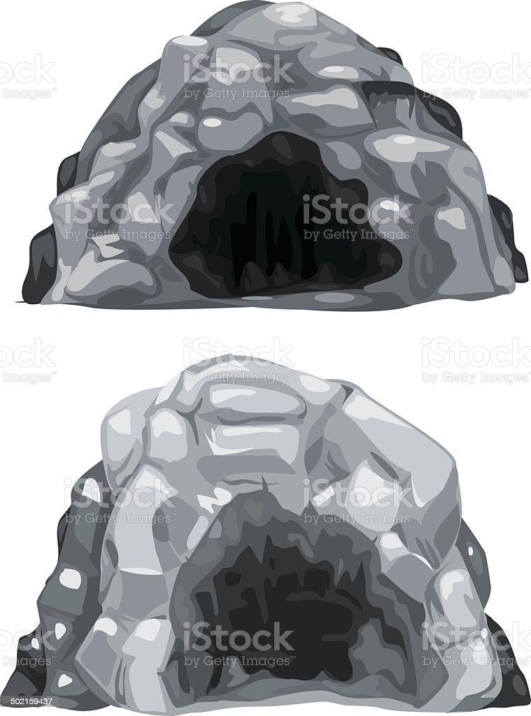 illustration cave vector art illustration