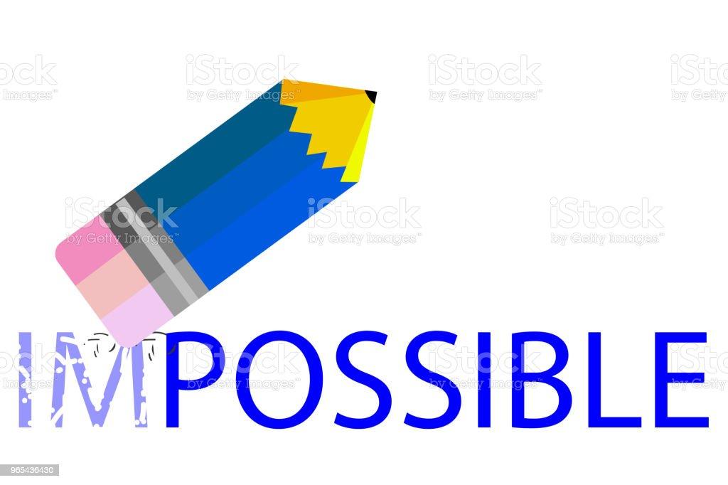 illustration change impossible into possible thing illustration change impossible into possible thing - stockowe grafiki wektorowe i więcej obrazów cień royalty-free