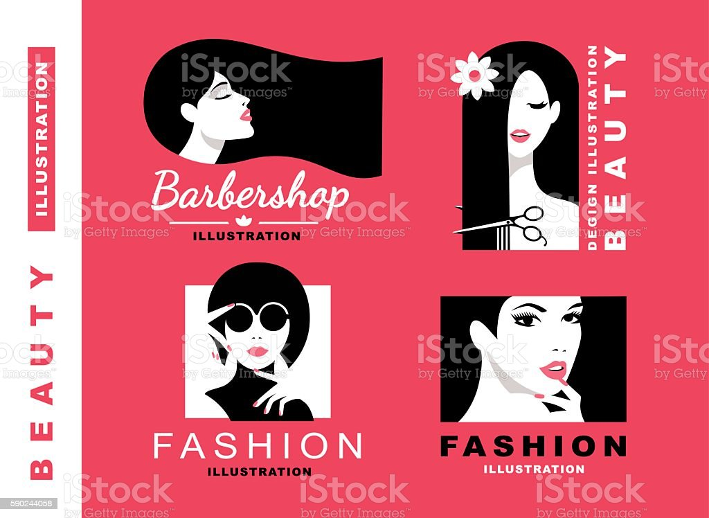 Illustration Collection. Cosmetics and fashion vector art illustration