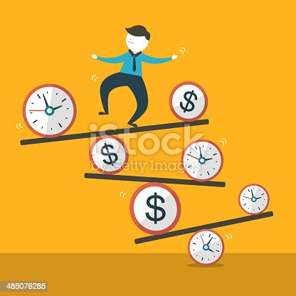 flat design vector illustration concept of balance