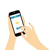 illustration concept process of booking taxi via mobile app