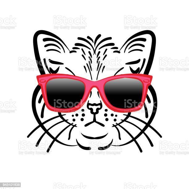 Illustration cute cat in glasses vector id945401838?b=1&k=6&m=945401838&s=612x612&h=vj4kuqbcba0xgxiqgmwqrthqur4sxaeitzn eqkcmzg=