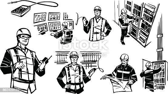 Illustration Depicting Automation Engineers Rpa Stock Vector Art  U0026 More Images Of Adult