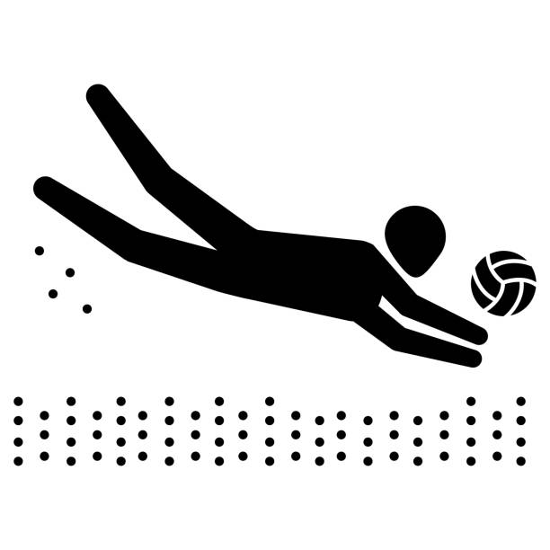 Best Beach Volleyball Illustrations, Royalty-Free Vector