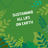 illustration design for world wildlife day celebration, march 8th. Sustaining all life on Earth theme