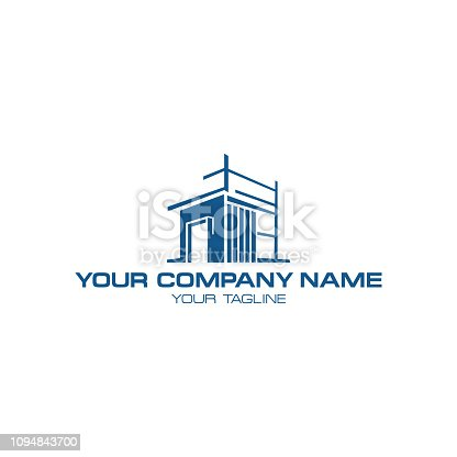 Illustration design home architecture symbol on the white background. Building company vector concept design. Vector illustration EPS.8 EPS.10