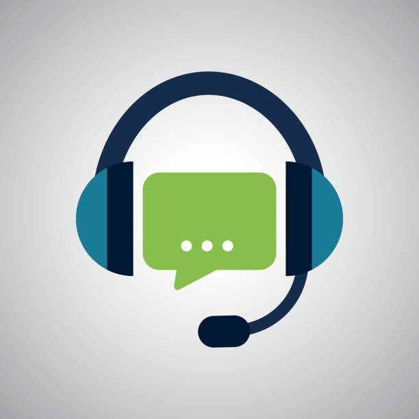 illustration design of call center, editable vector - call center stock illustrations, clip art, cartoons, & icons