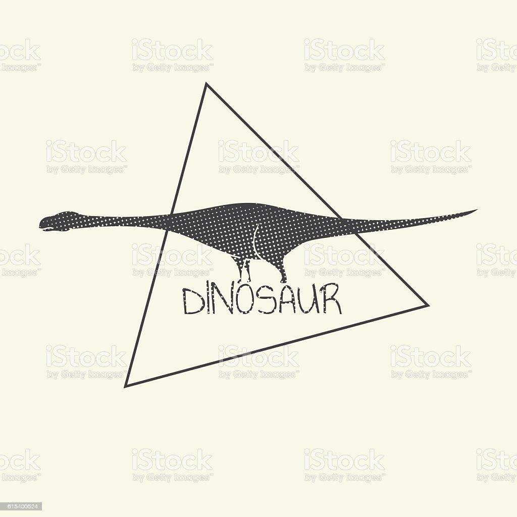 Illustration Dinosaur of Brontosaurus vector art illustration