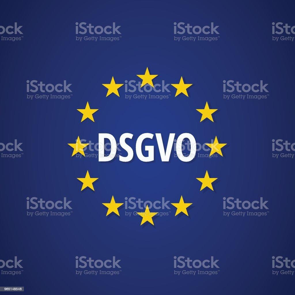 EU-DSGVO illustration DSGVO Datenschutzgrundverordnung eudsgvo illustration dsgvo datenschutzgrundverordnung - stockowe grafiki wektorowe i więcej obrazów bezpieczeństwo royalty-free