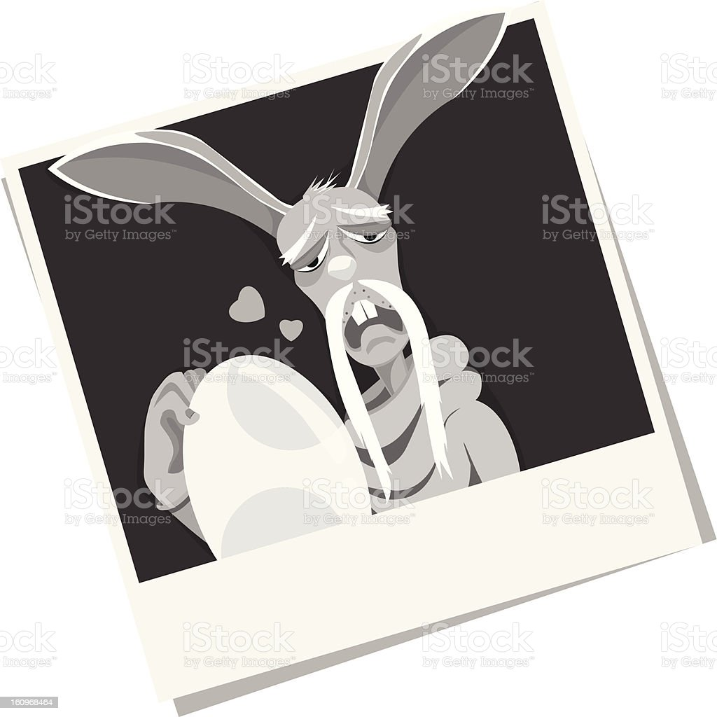 Illustration Easter Bunny's Old Love royalty-free illustration easter bunnys old love stock vector art & more images of animal