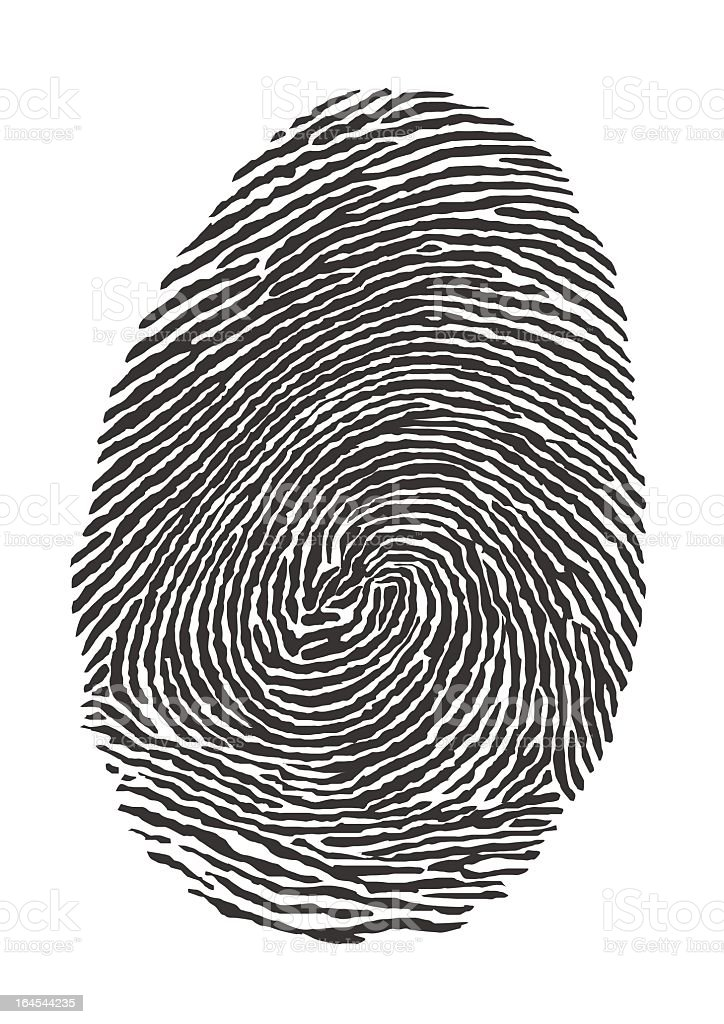 Illustration fingerprint of a thumb royalty-free stock vector art