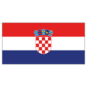 Illustration flag of Croatia. Ideal for catalogs of institutional materials and geography