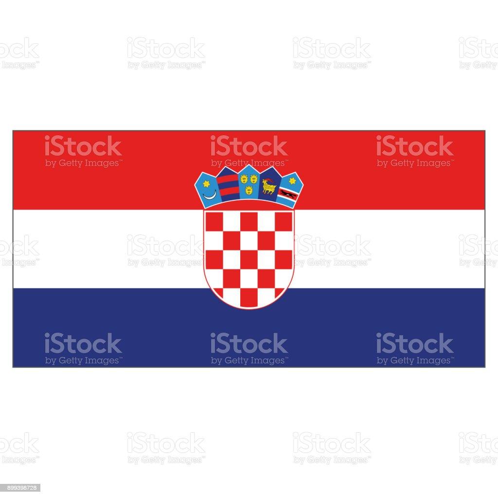 Bandera de la ilustración de Croacia. Ideal para catálogos de materiales institucionales y de la geografía - ilustración de arte vectorial