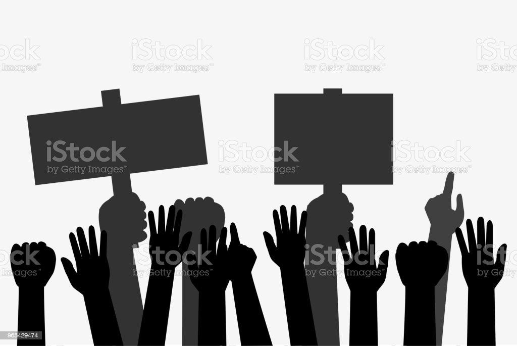 Illustration for Demonstration or Protest illustration for demonstration or protest - stockowe grafiki wektorowe i więcej obrazów biznes royalty-free