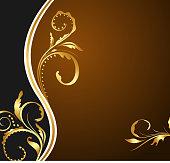 Illustration for design floral business card