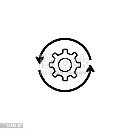 Illustration for downloads or settings vector icon technology