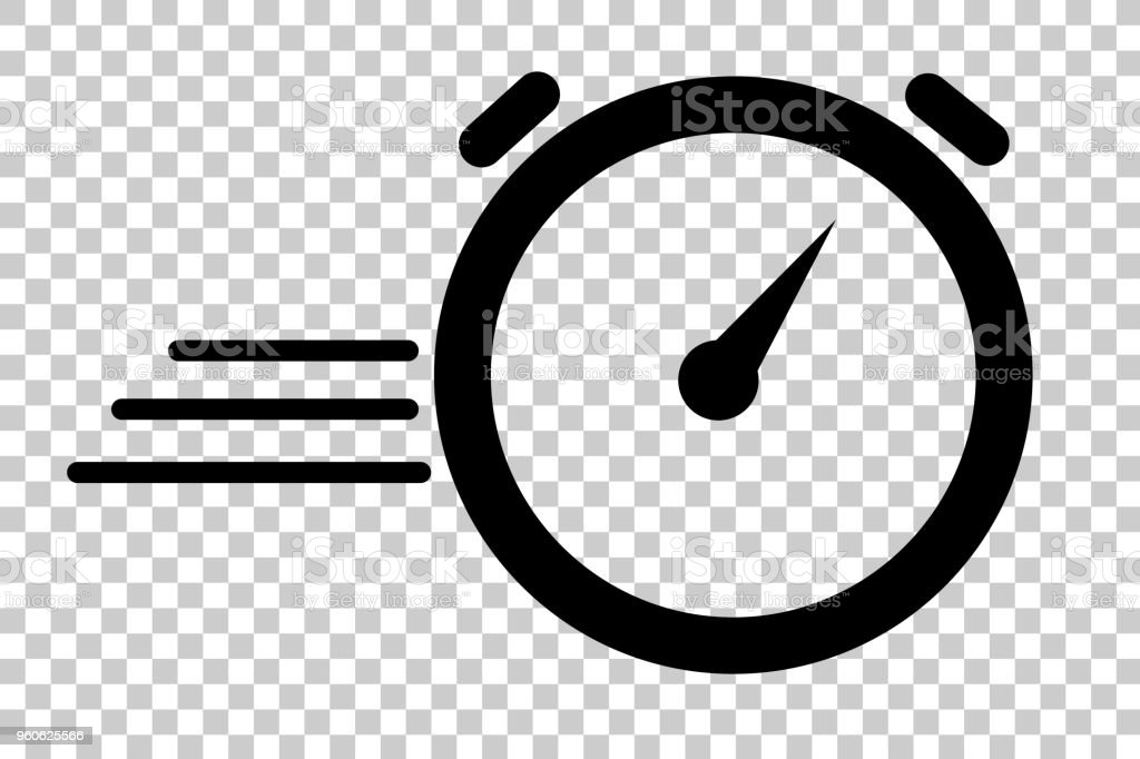 Illustration For Duration Of Deadline Dateline Icon Of Stop