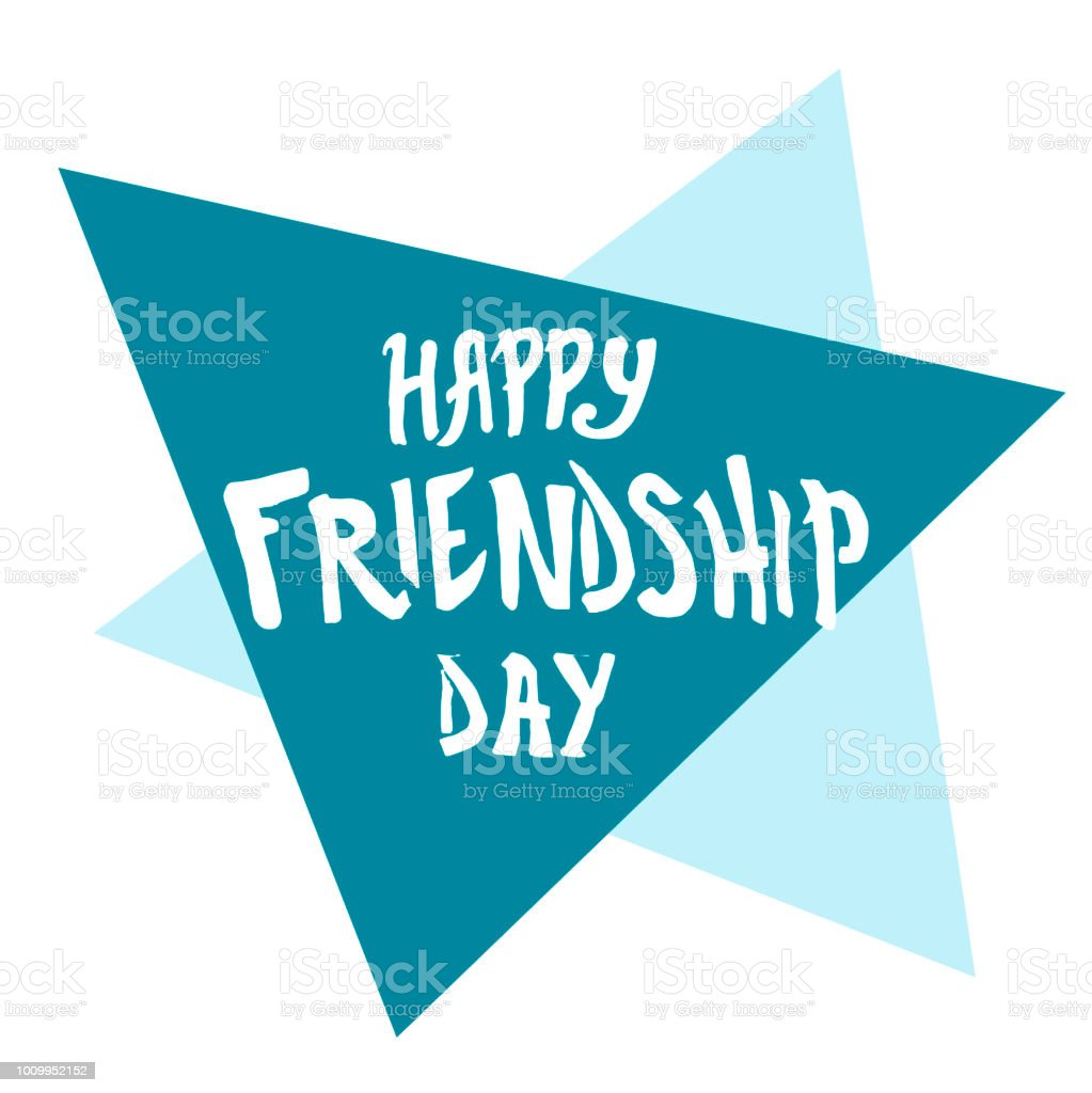 Illustration For Friendship Day Greeting Cards With Happy Day Of