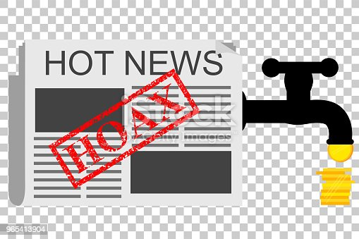 vector Illustration for Get Earn from Hoax (Fake) News