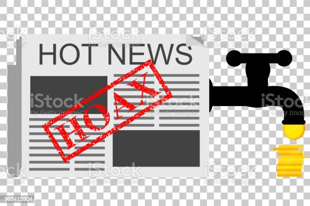 Vetores de Ilustração Para Get Ganhar Do Hoax News No Fundo De Efeito Transparente e mais imagens de Borracha - Material