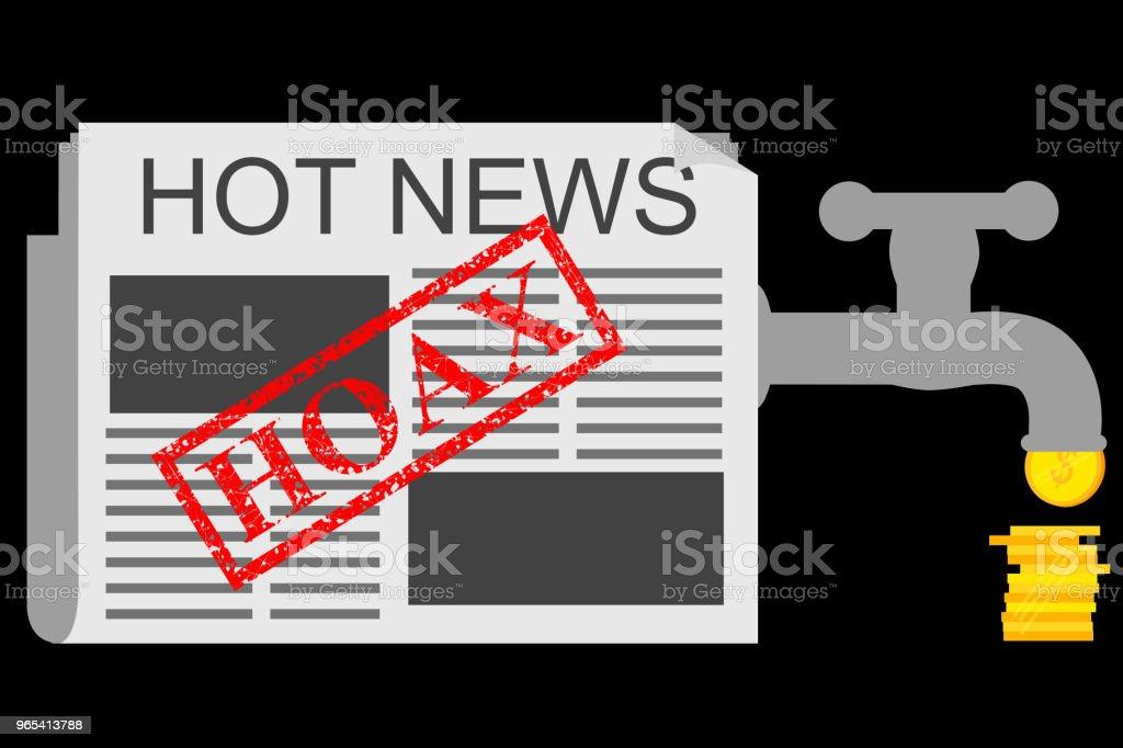 Illustration for Get Earn from Hoax (Fake) News illustration for get earn from hoax news - stockowe grafiki wektorowe i więcej obrazów banknot rupii indonezyjskiej royalty-free