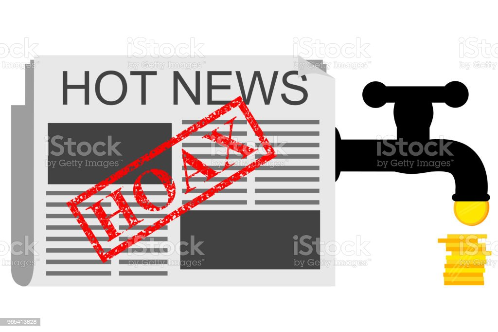 Illustration for Get Earn from Hoax (Fake) News royalty-free illustration for get earn from hoax news stock vector art & more images of advertisement
