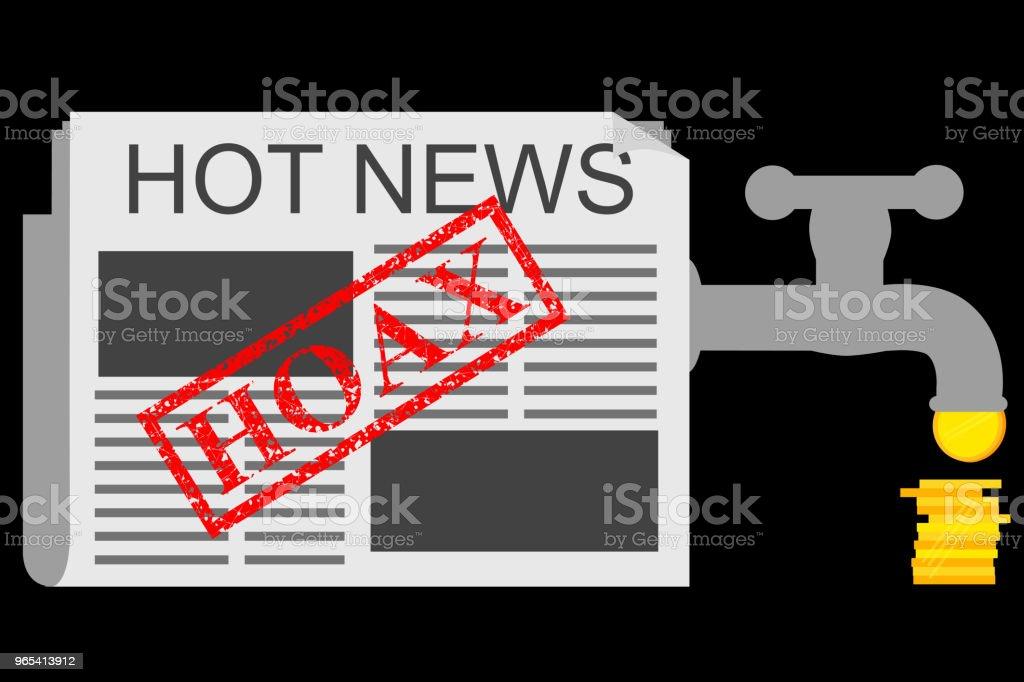 Illustration pour Get gagnent de nouvelles canular (Fake) - clipart vectoriel de Affaires libre de droits
