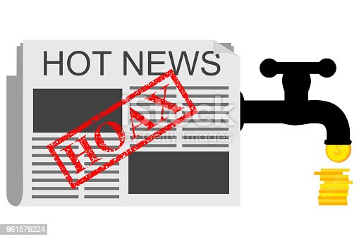 vector illustration for get earn from hoax or Fake news