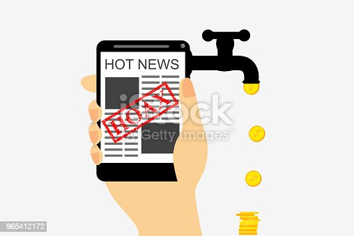 vector illustration for get earn hoax or fake news