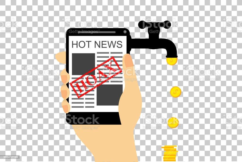 illustration for get earn hoax or fake news illustration for get earn hoax or fake news - stockowe grafiki wektorowe i więcej obrazów biznes royalty-free