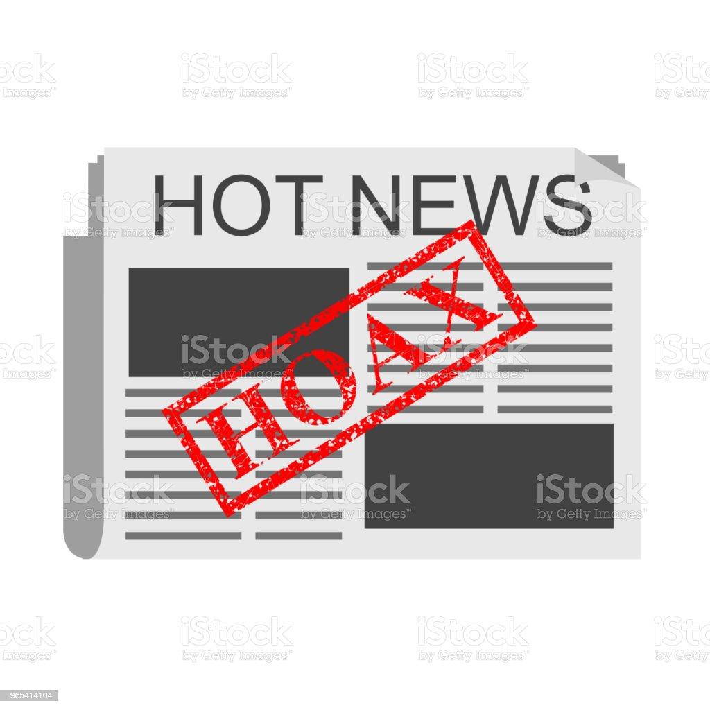 Illustration pour le canular, fausses nouvelles - clipart vectoriel de Affaires libre de droits