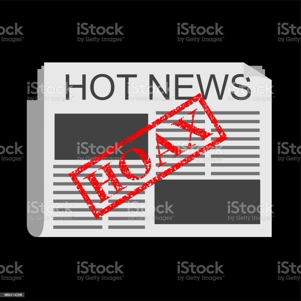 Illustration for Hoax, Fake News illustration for hoax fake news - stockowe grafiki wektorowe i więcej obrazów banknot rupii indonezyjskiej royalty-free