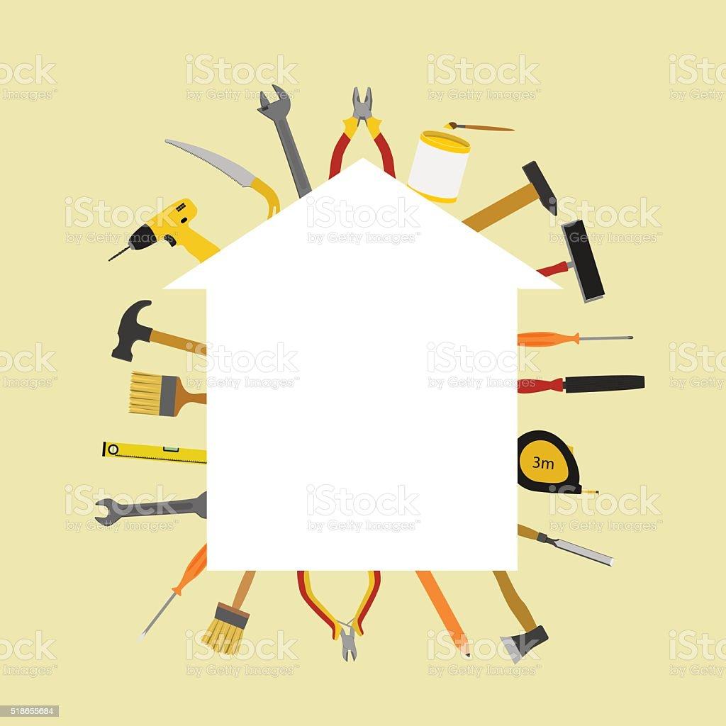 illustration for home repair vector art illustration