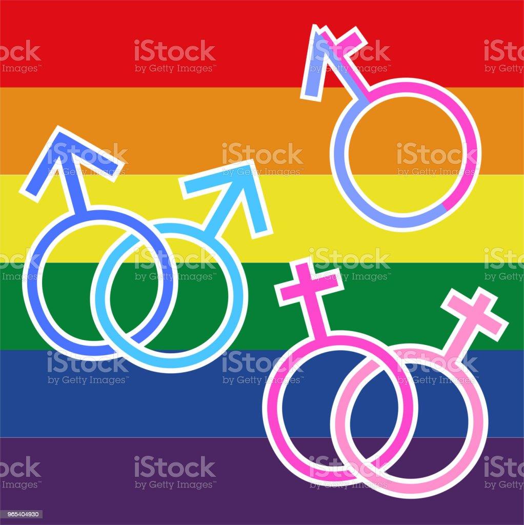 LGBT에 대 한 그림 - 로열티 프리 0명 벡터 아트