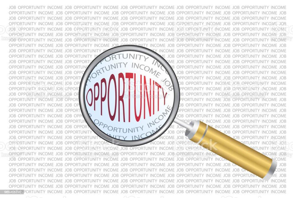 illustration for looking for opportunity illustration for looking for opportunity - stockowe grafiki wektorowe i więcej obrazów aspiracje royalty-free