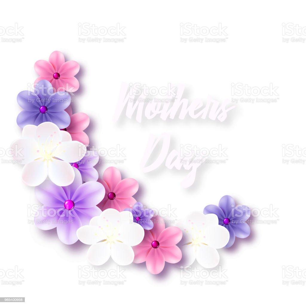 Illustration für den Muttertag mit zarten Blüten - Lizenzfrei Baumblüte Vektorgrafik