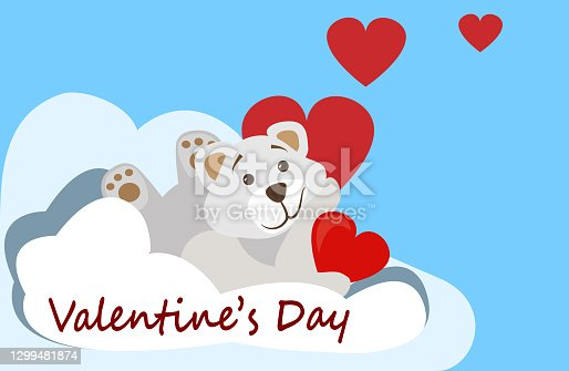 istock Illustration for postcard for Valentine Day. 1299481874