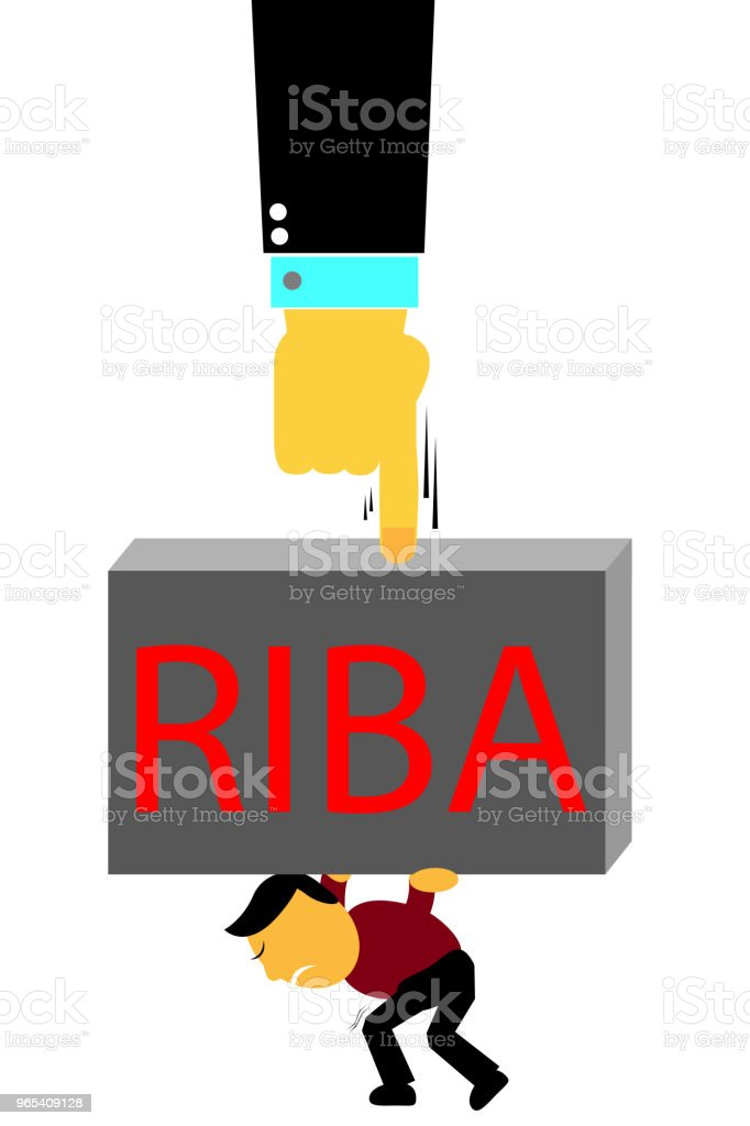 Illustration for Riba pressure (Bank Interest in indonesia or arabic language) royalty-free illustration for riba pressure stock vector art & more images of adult