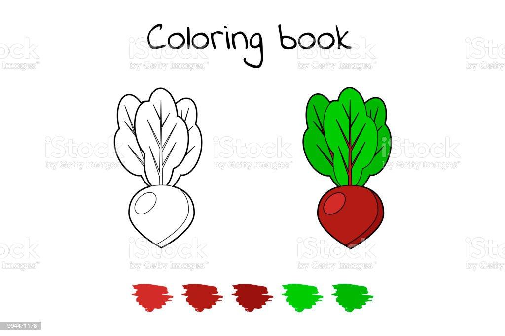 Ilustración de Ilustración Juego Para Niños Vegetales Remolacha De ...