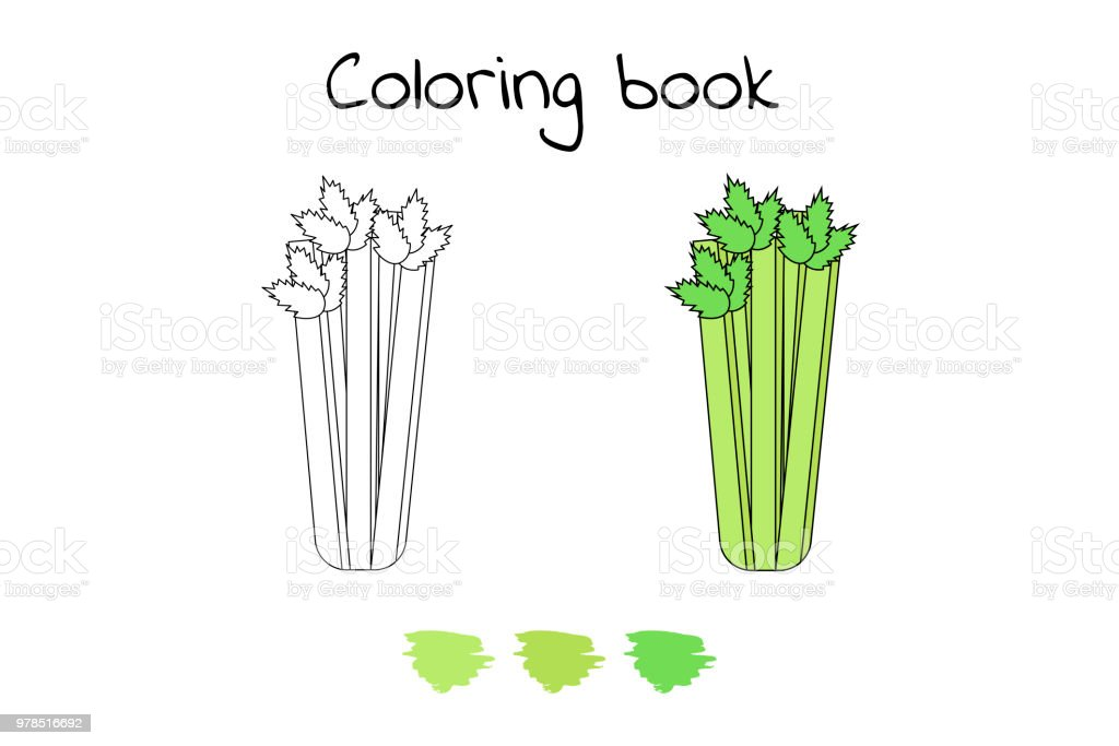 Ilustración de Ilustración Juego Para Niños Vegetales Página Para ...