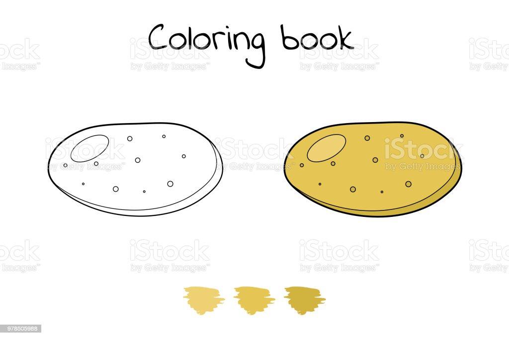 Illust Jeu Pour Les Enfants Legume Coloriage De Pommes De Terre