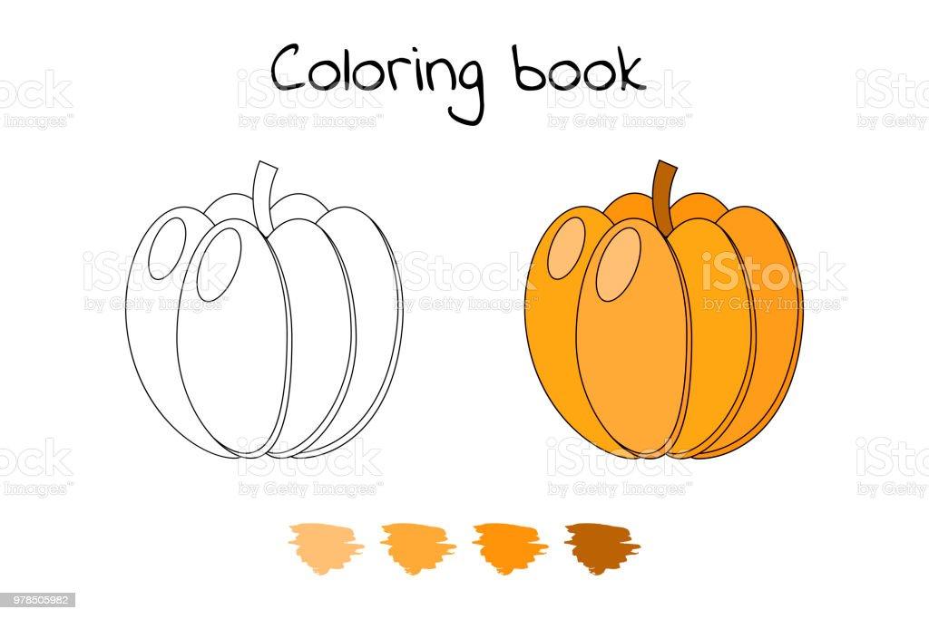 Ilustración de Ilustración Juego Para Niños Vegetales Calabaza De ...