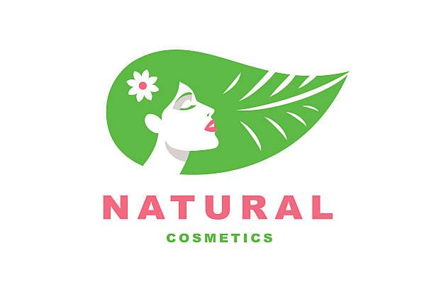 Illustration girl, natural cosmetics vector art illustration