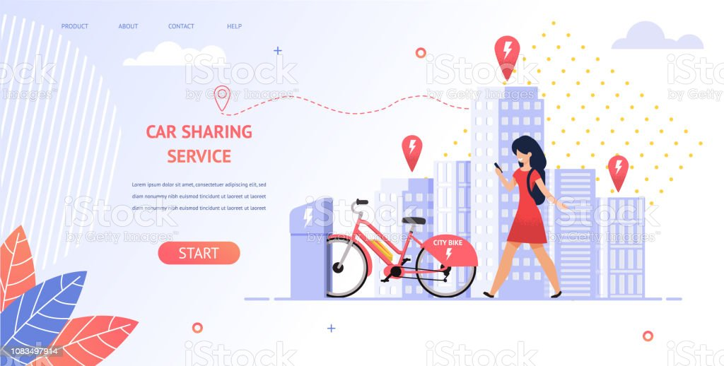 Illustration Girl Student Rent An Electric Bike Stock Illustration Download Image Now Istock