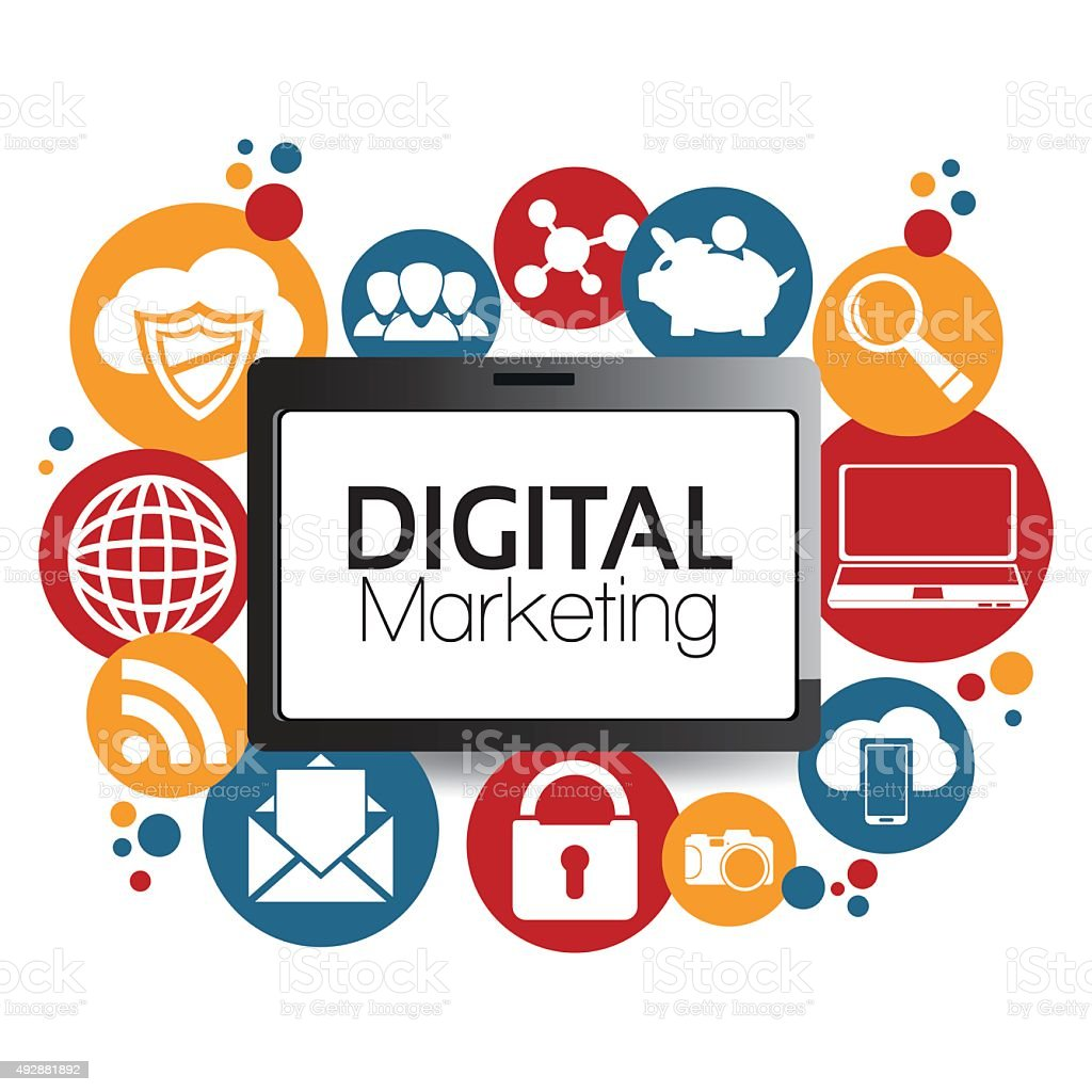Illustration Graphic Vector Digital Marketing vector art illustration