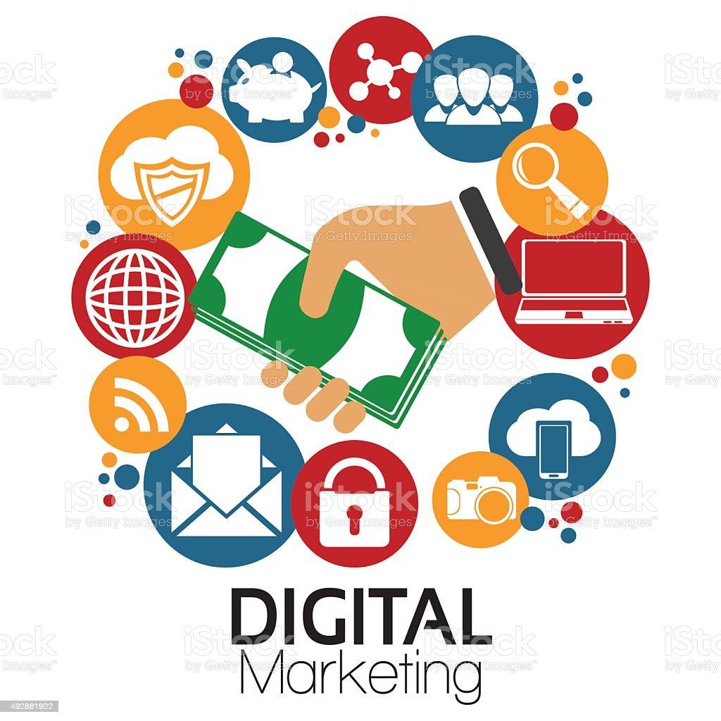 illustration graphic vector digital marketing stock illustration download image now istock 2