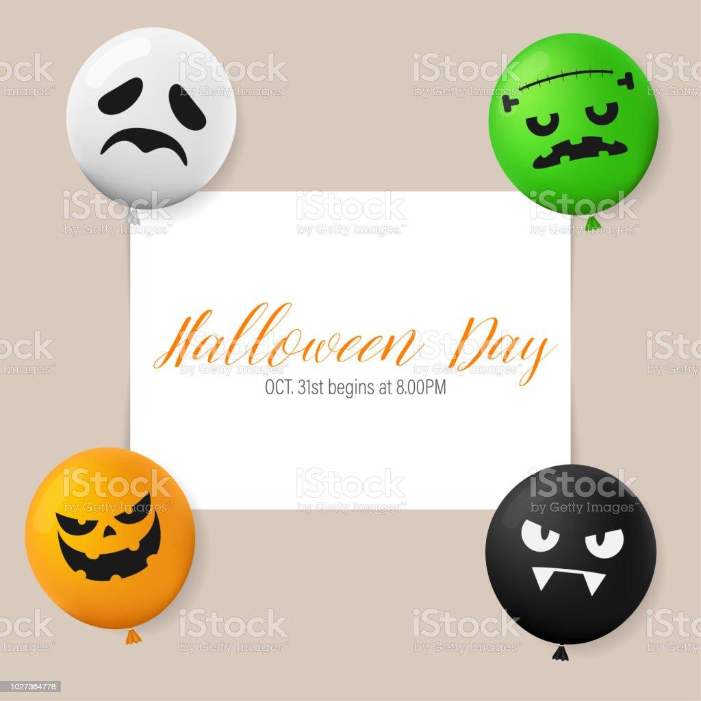 Dag Halloween.Illustratie Happy Halloween Dag Het Concept Van De Vakantie