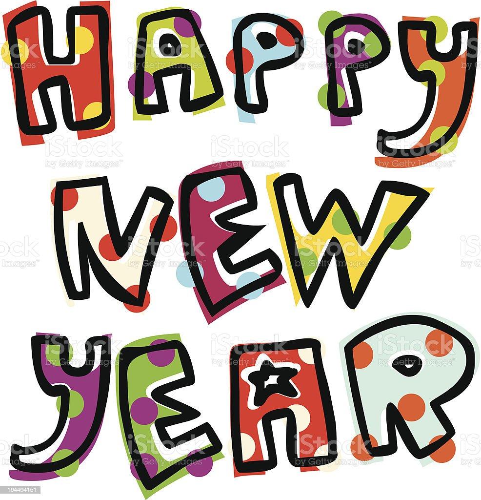 Illustration Happy New Year Text Stock Illustration ...