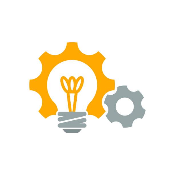 illustrationymbol für ideenentwicklung - innovation stock-grafiken, -clipart, -cartoons und -symbole