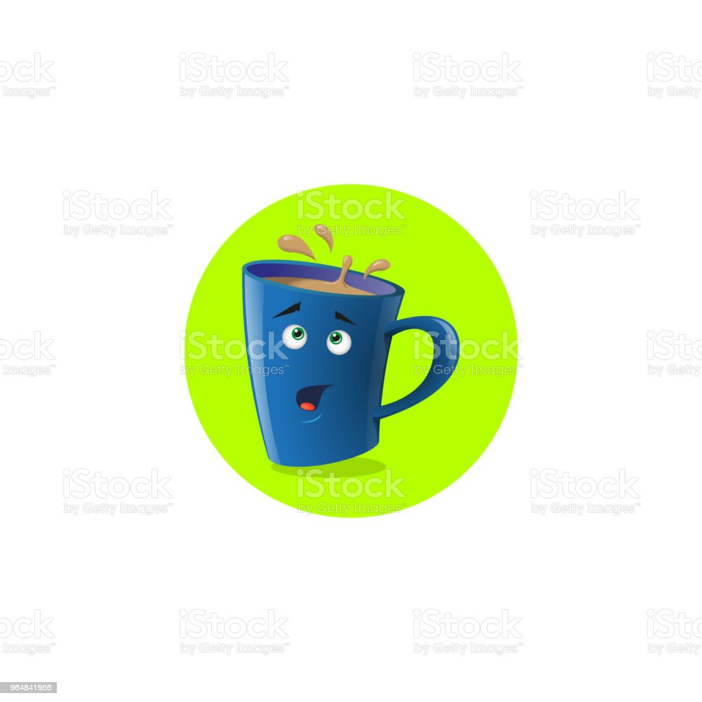 illustration icon funny cartoon mug that surprised royalty-free illustration icon funny cartoon mug that surprised stock vector art & more images of anthropomorphic smiley face